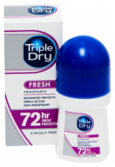 TRIPLE DRY FRESH 72H ROLL-ON ANTIPERSPIRANT TUOKSULLA 50 ML