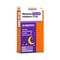 Melatoniini Extra Vahva ratiopharm 1,9 mg suussaliukeneva kalvo 30 kpl