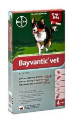 BAYVANTIC VET KOIRILLE 10-25 KG 250/1250 mg paikallisvaleluliuos 4x2,5 ml